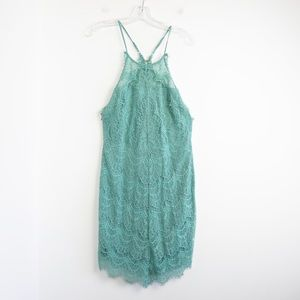 Free People Holly mint lace dress pastel green new